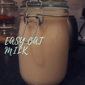 Easy oat milk recipe