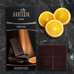 Heidi orange chocolate bar