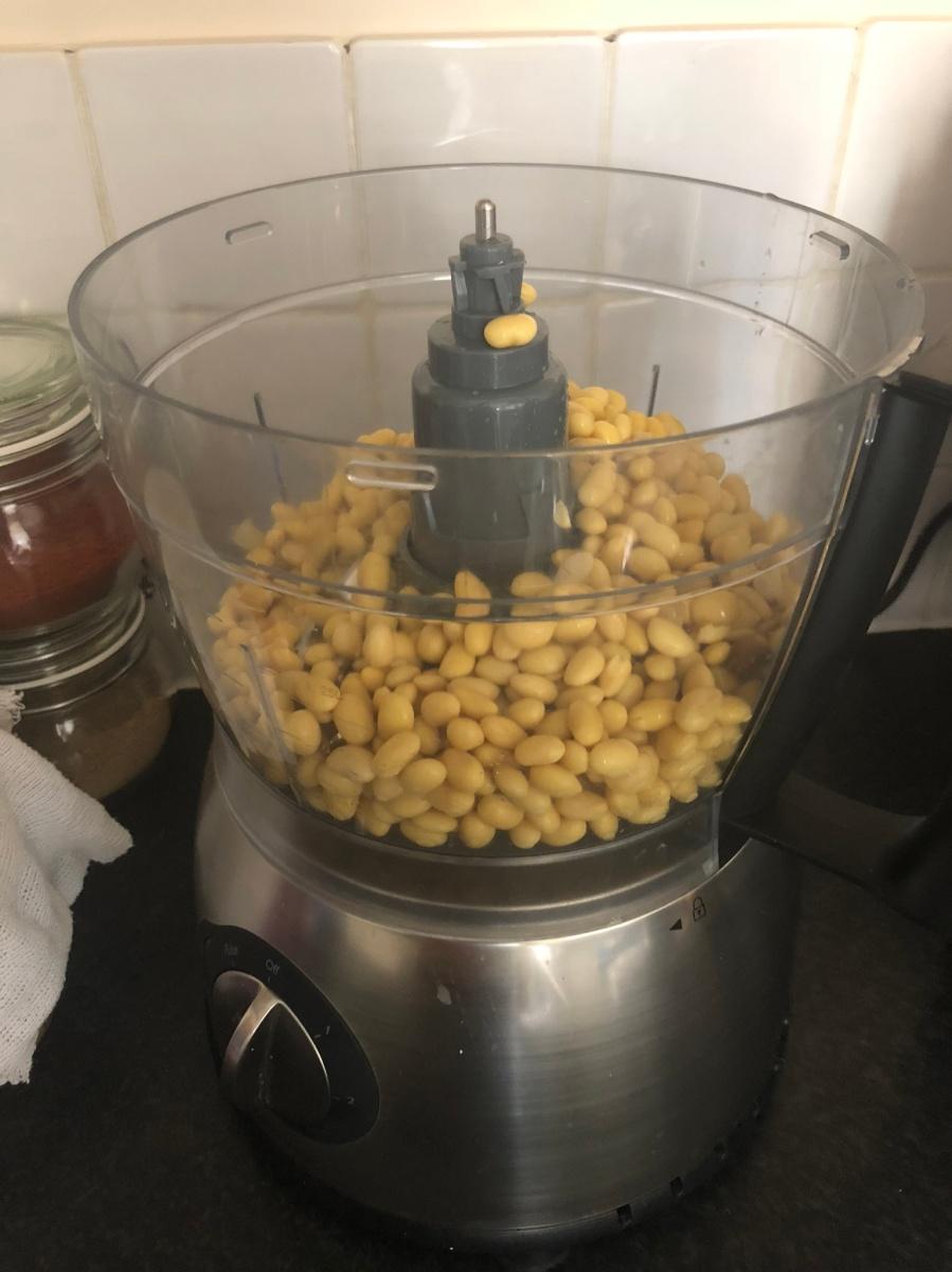 Soaked soya beans