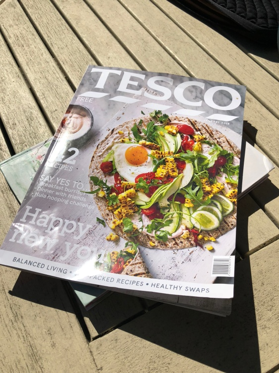 Tesco's January edition of their magazine
