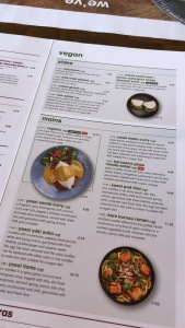 Wagamamas vegan menu Nottingham