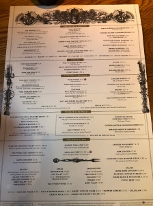 The Alchemist menu nottingham