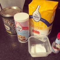 Ingredients for cinder toffee