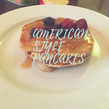 American-style vegan pancakes