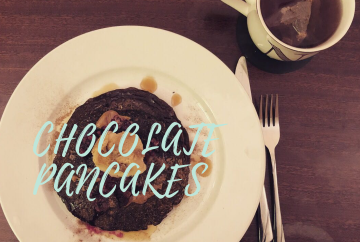 chocolate american pancakes vegan