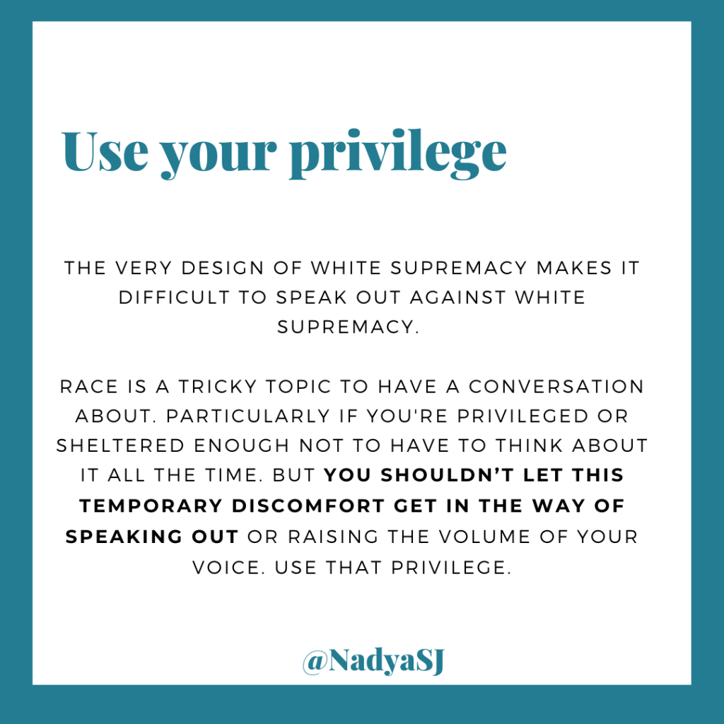 Use your privilege